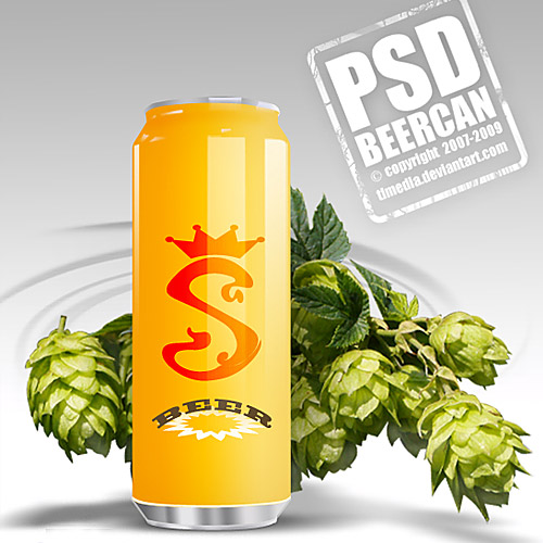 Free Beer Can PSD L