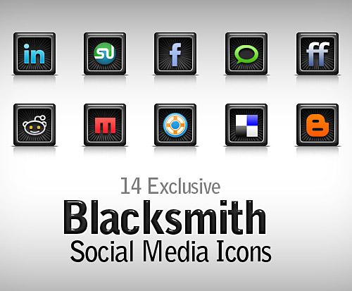 Free Blacksmith Social Media Icons PSD L