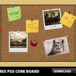Free PSD Cork Board