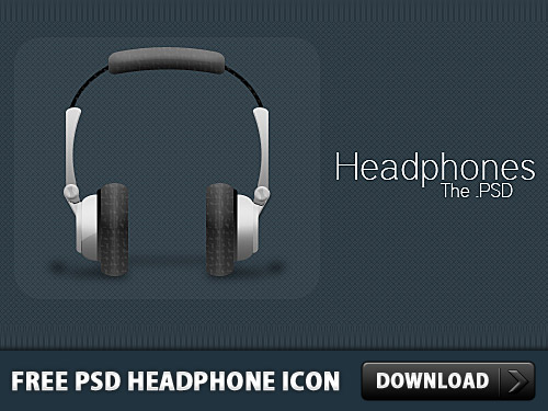 Free PSD Headphone Icon L