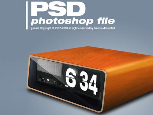 Free Retro Clock PSD L