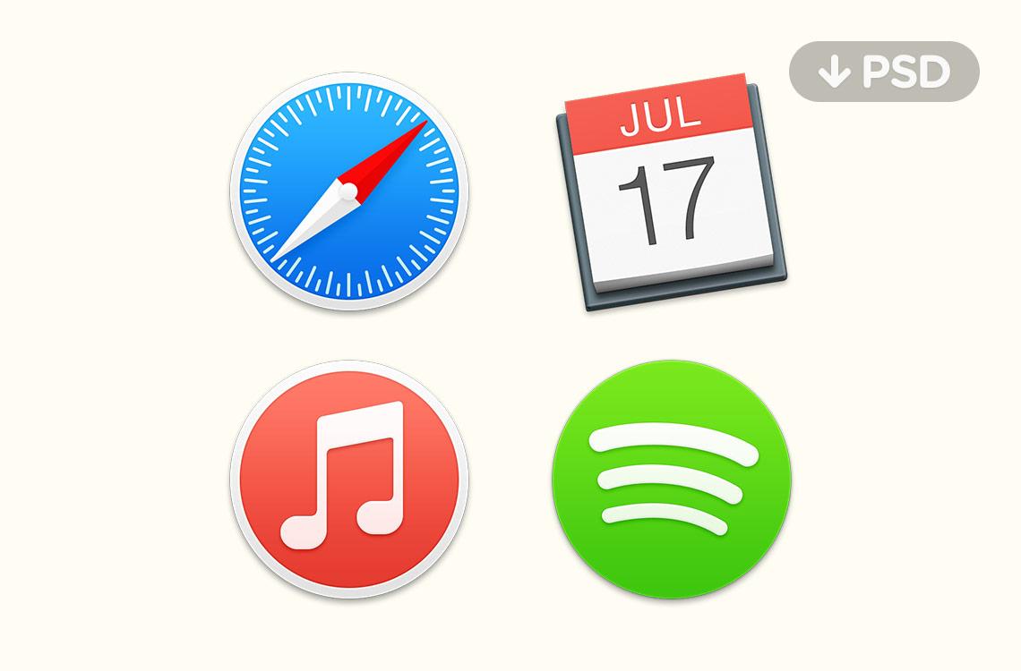 Free Yosemite Icons PSD