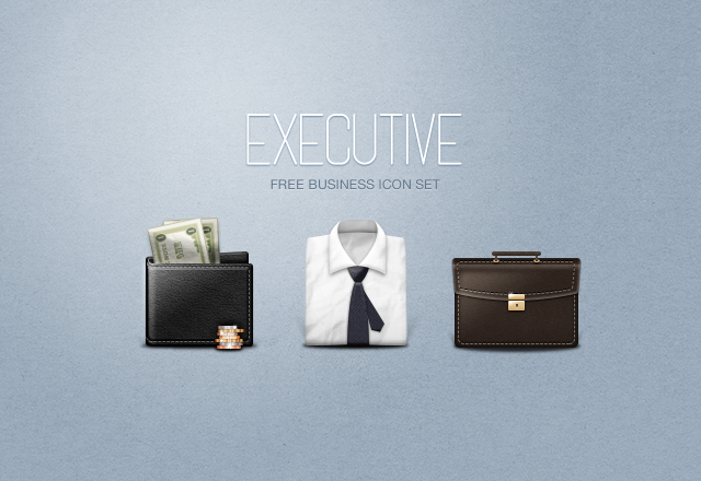 Executive Business Icons Free PSD