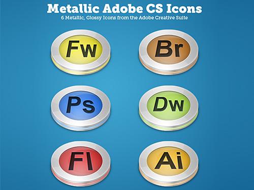 Glossy Matallic Icons L