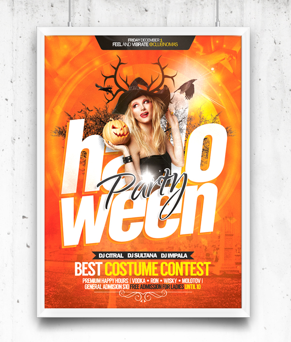 Halloween Party Flyer Free Template PSD
