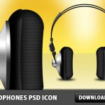 Headphones Free PSD Icon