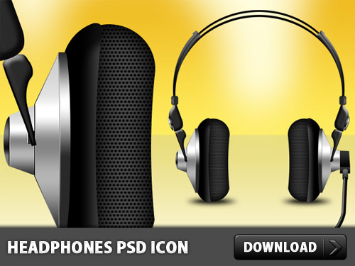 Headphones PSD And Icon L