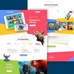 Kids Cartoon and Movies Website Template PSD