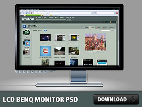LCD Benq Monitor PSD File L