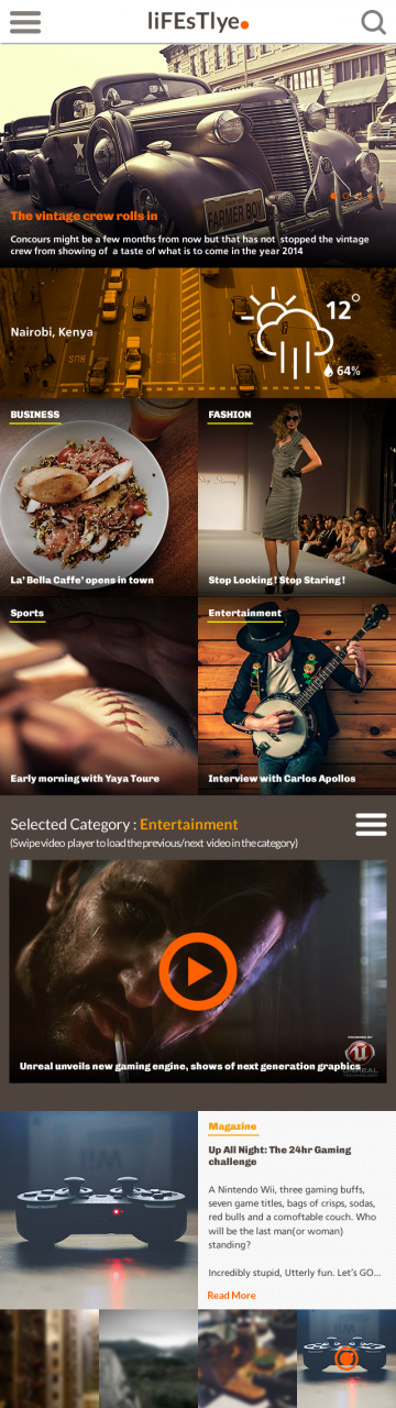 Lifestyle Magazine Website Template PSD