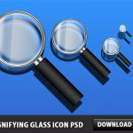 Magnifying Glass Icon Free PSD