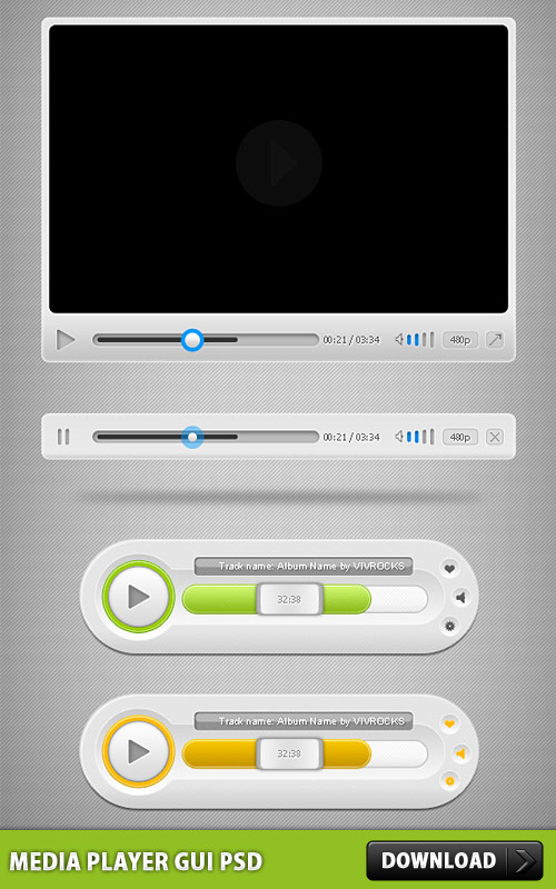 Media Player GUI PSD L