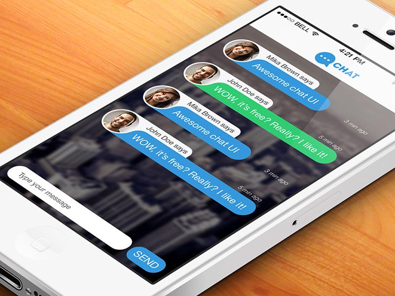 Messenger Chat Screen PSD1