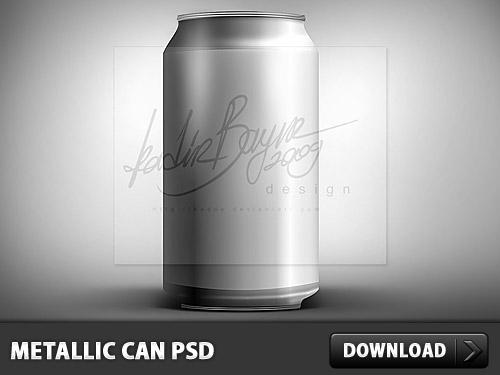 Metallic Can PSD L