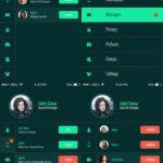 Mobile App Flat UI Kit Free PSD