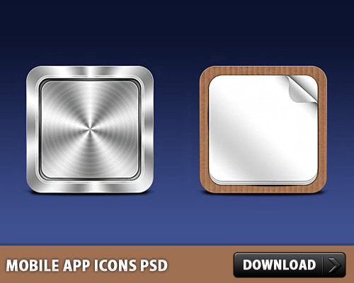 Mobile App Icons PSD L