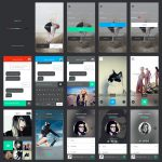 Mobile Application Screens UI Kit Free PSD