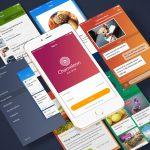 Mobile Material Design UI Kit Free PSD