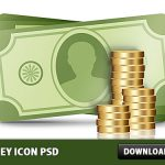 Money icon Free PSD
