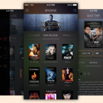 Movie App UI Free PSD Template