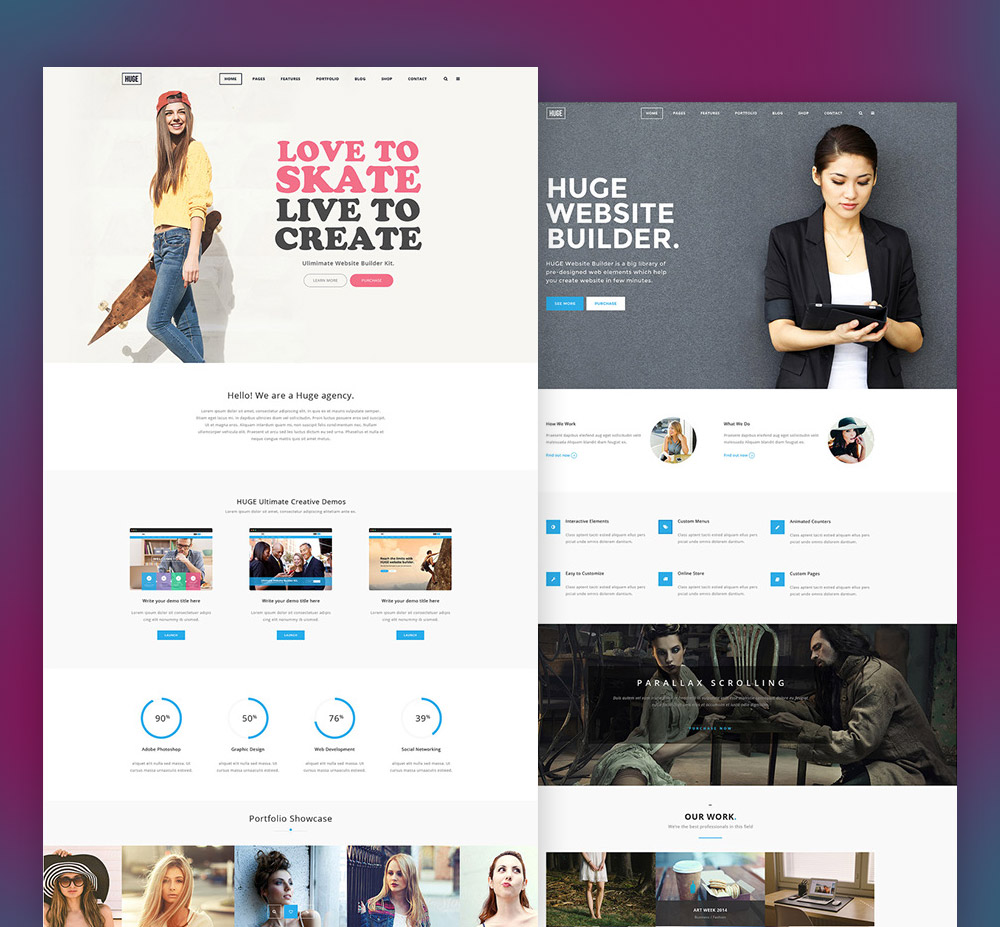 Multi Purpose Corporate And Business Website Template Free PSD