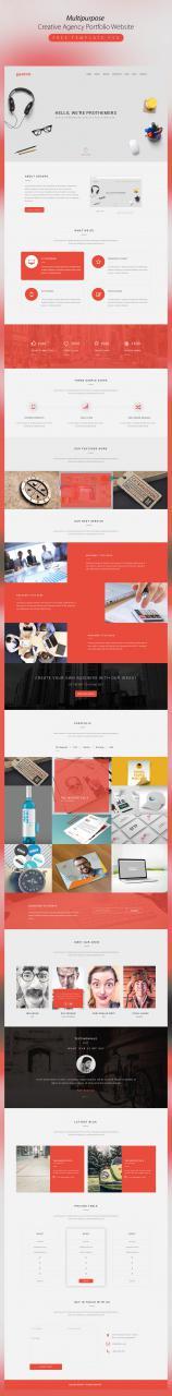 Multipurpose Creative Agency Portfolio Website Template PSD