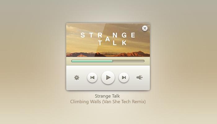 Music Player Widget PSD