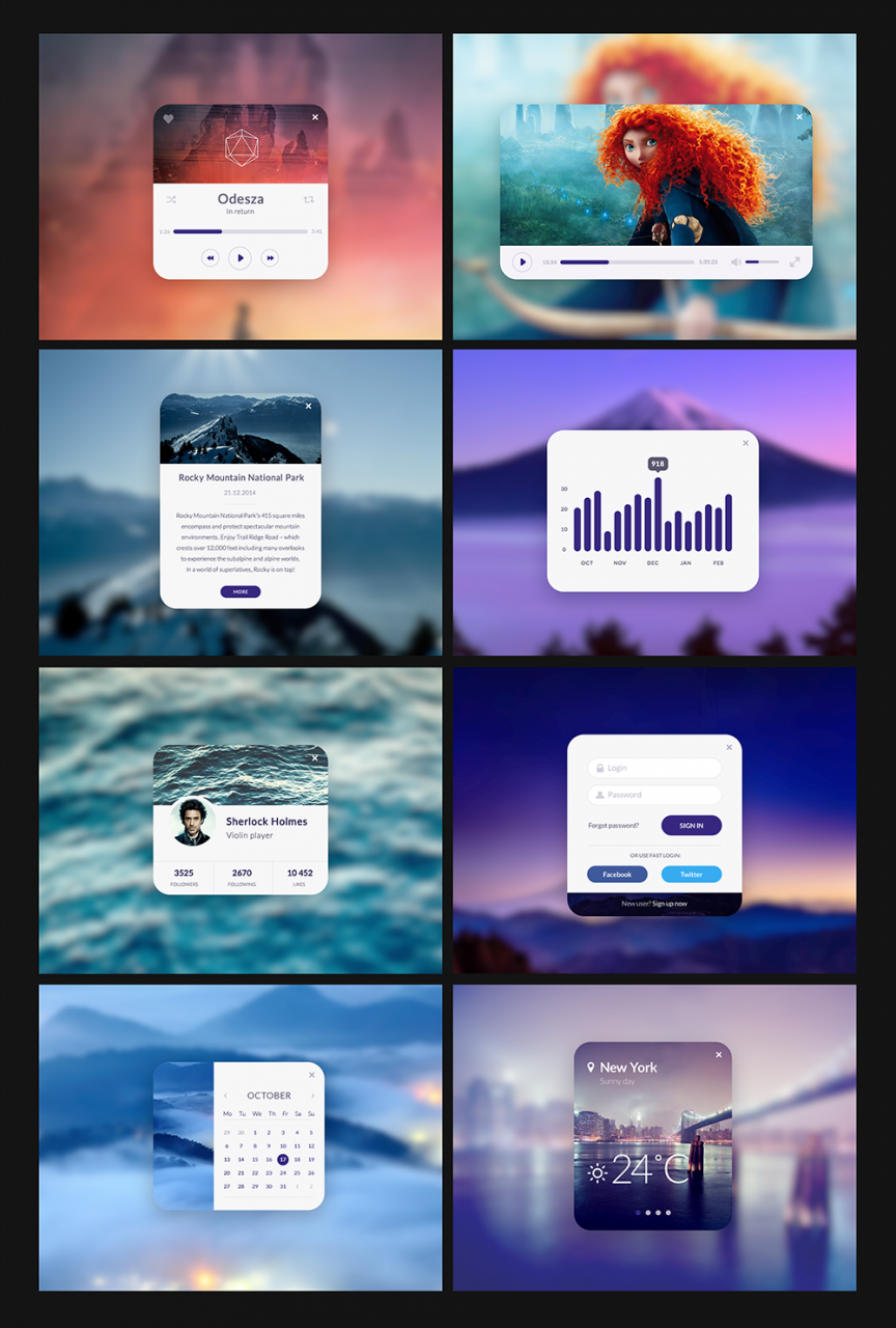Neat And Clean Free UI Kit PSD