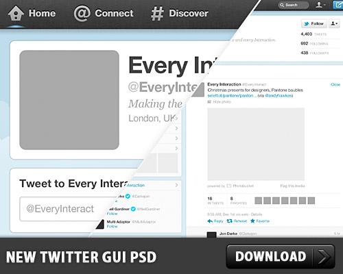 New Twitter GUI PSD L