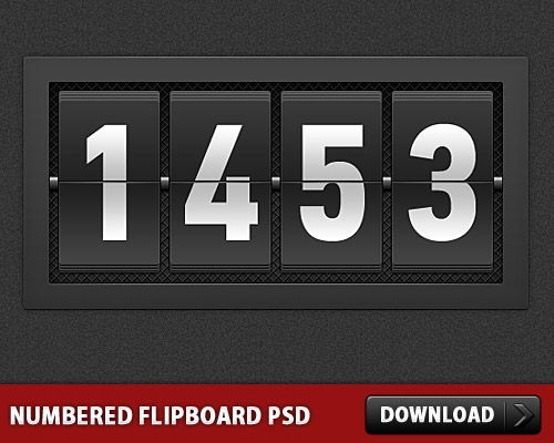 Numbered Flipboard PSD L