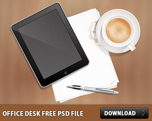 Office Desk Free PSD File L
