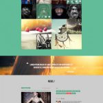 One Page Folio Flat PSD Template