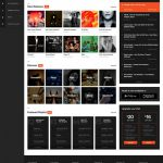 Online Music Website Concept Template Free PSD