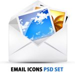 PSD Free Email Icons Set