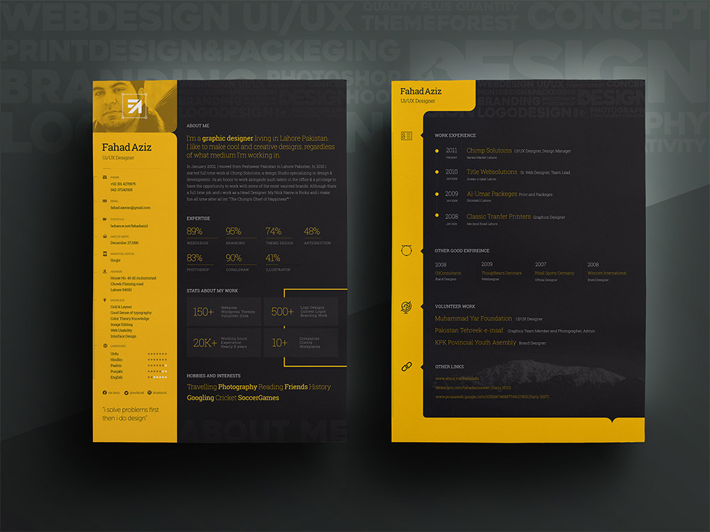 personal resume template free psd free cracked nulled seo softwares. Black Bedroom Furniture Sets. Home Design Ideas