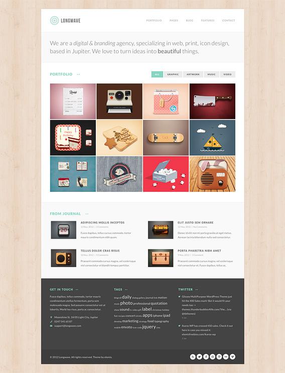 Portfolio Gallery Free Homepage PSD