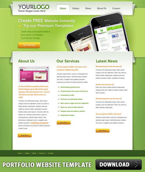 Portfolio PSD Website Template L