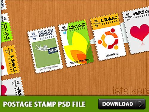 Postage Stamp PSD File L