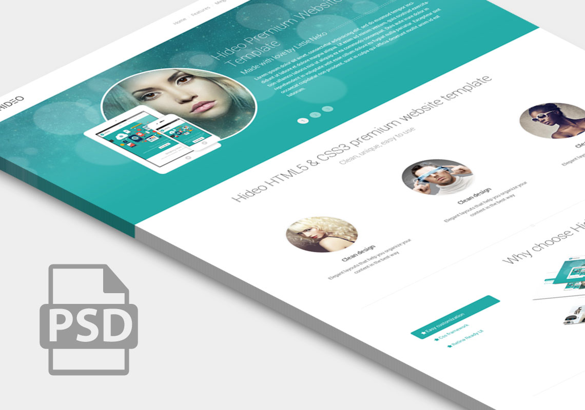 Premium Website Home Page Template PSD