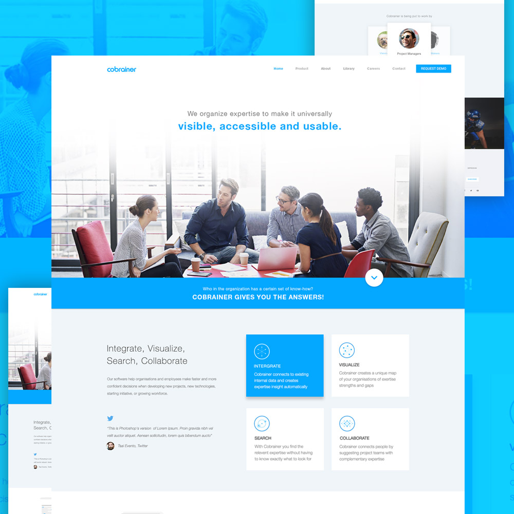 Professional Company Website Template Free PSD