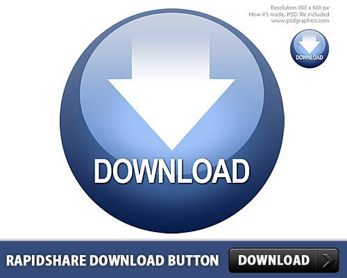 Rapidshare Download Button PSD L