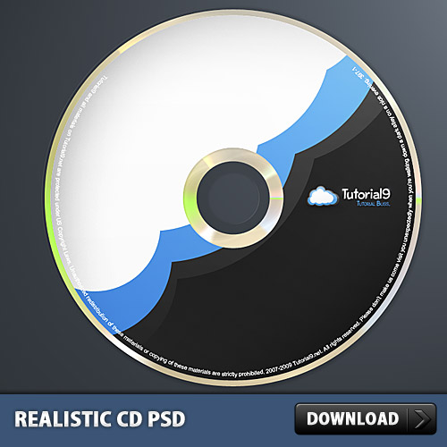 Realistic CD In Photoshop L