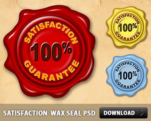 Satisfaction Guarantee Wax Seal PSD L