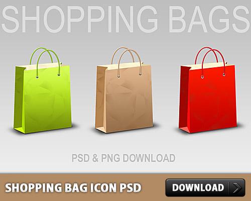 Shopping Bag Icon PSD L