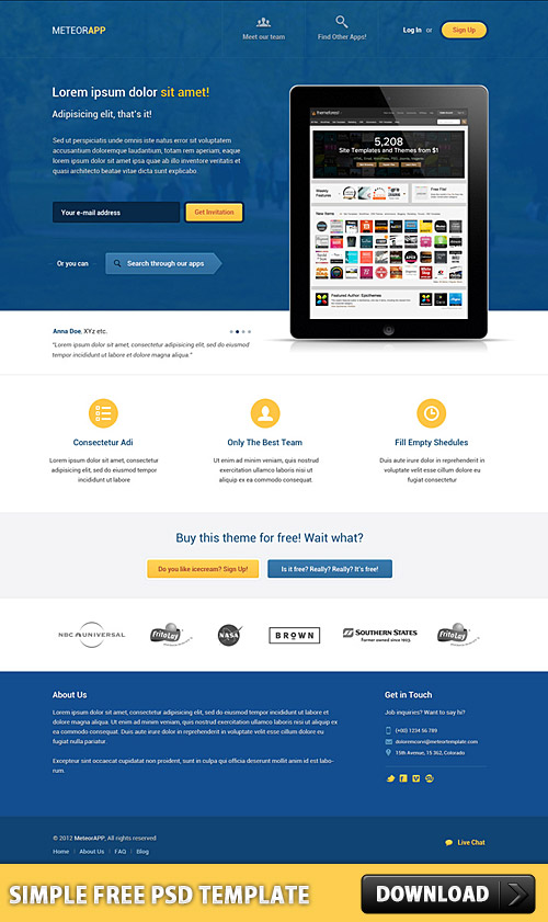 Simple Free PSD Template L