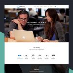 Simple One Page Corporate Website Template Free PSD
