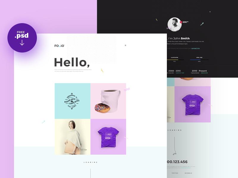 Simple Portfolio Website Template PSD