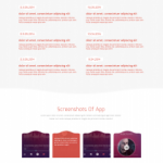 Single Page App Landing Page PSD Template