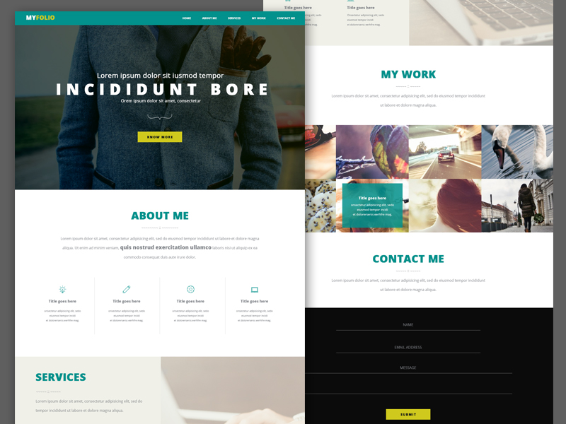 Single Page Personal Portfolio Template PSD – Free Cracked