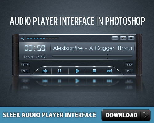 Sleek Audio Player Interface L